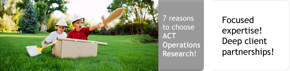 7 reasons to choose ACT! Focused expertise! Deep client partnerships!