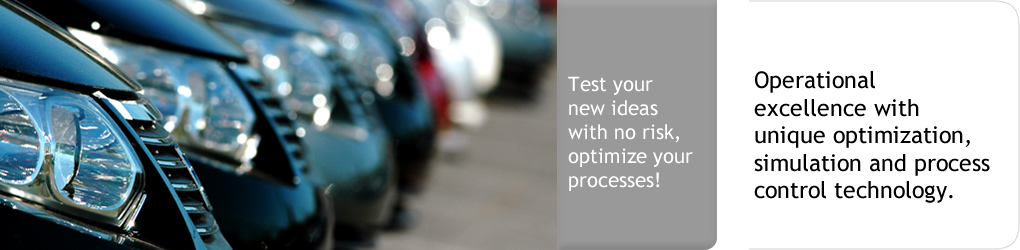 Test your new idea with no risk, optimize your processes! Operational excellence with unique optimization, simulation and process control technology.