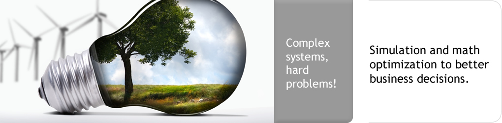 Complex systems, hard problems! Simulation and math optimization to better support business decisions.